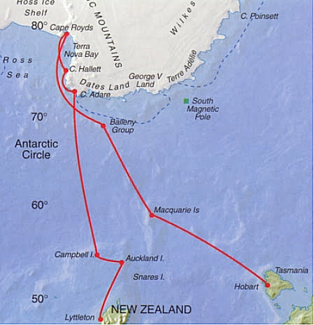mapa das ilhas Balleny, Antártica