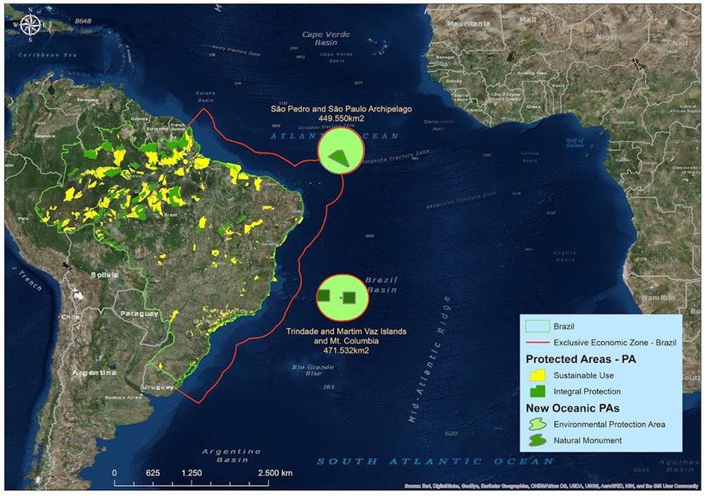 Imagem de mar brasileiro protegido