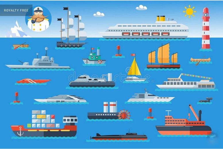 ilustração de transporte marítimo