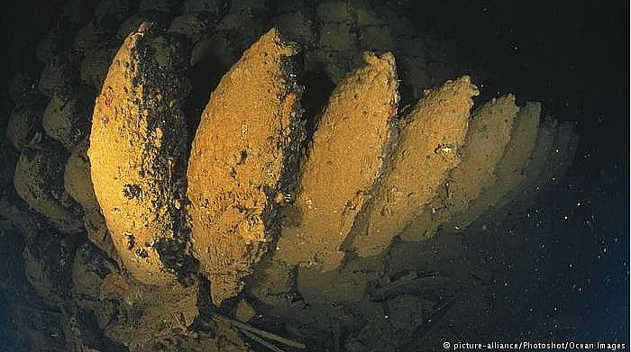 imagens de bombas nazistas no mar Báltico