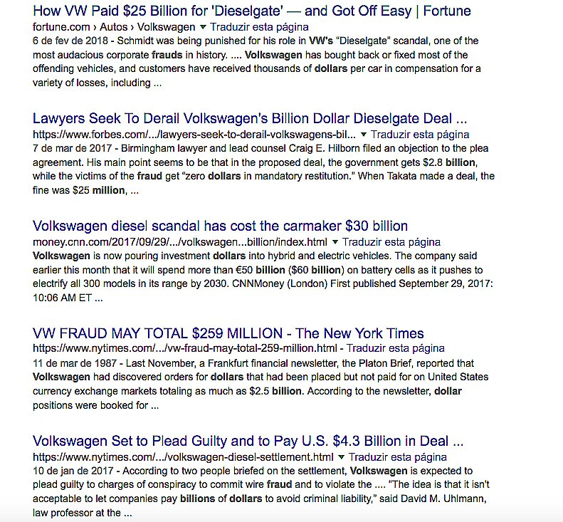 imagem de página do desengate no google