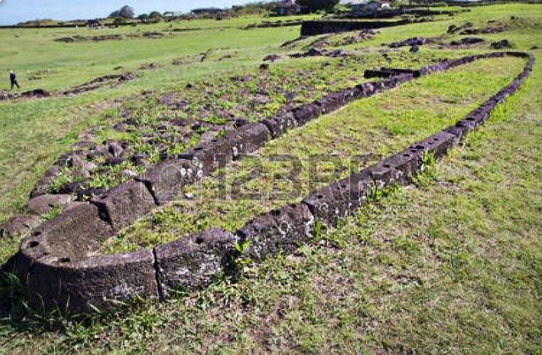 Imagem de fundação de casa Rapa Nui na ilha de Páscoa