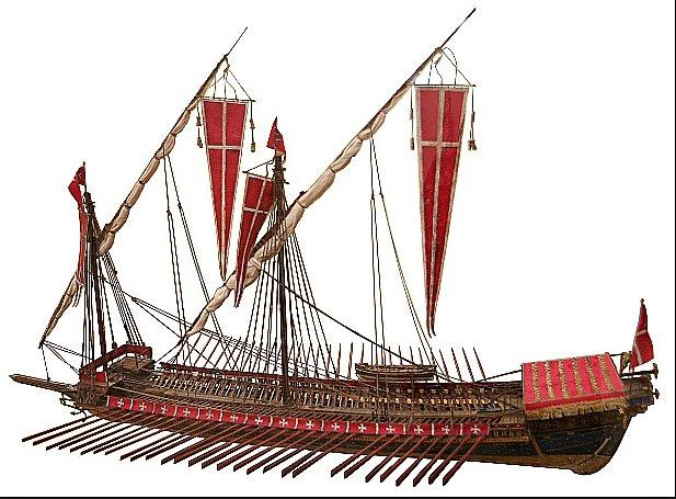 desenho de galé que viria a influenciar as caaevlas portuguesas