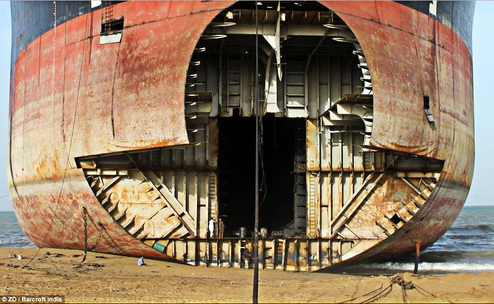 imagem de Desmanche de navios em Alang