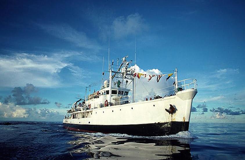 imagem do Calypso, de Jacques Cousteau