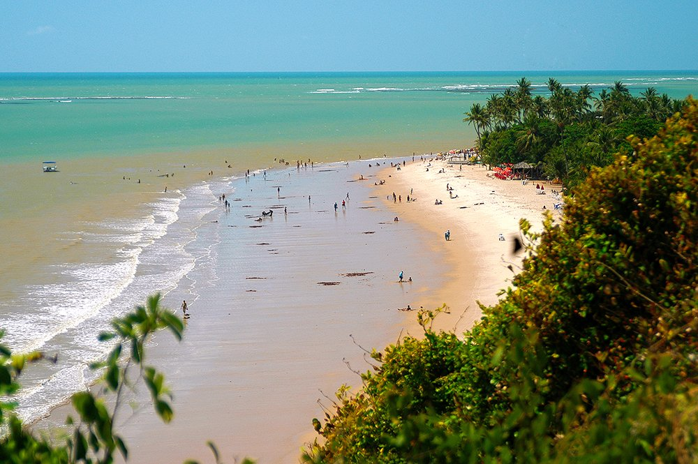 imagem do Cabo Branco no litoral da Paraíba