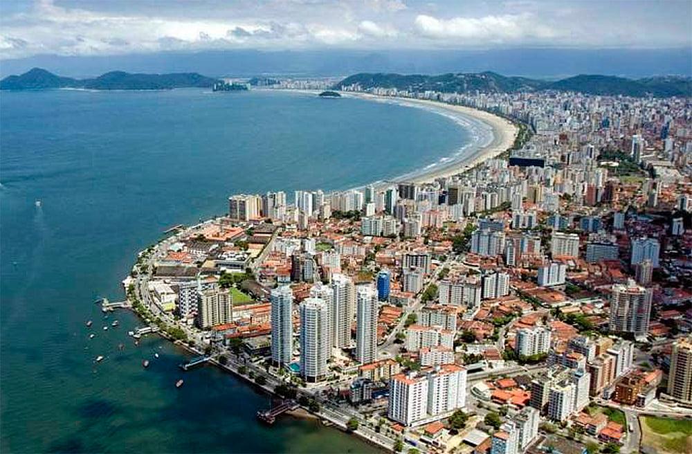 imagem de orla de Santos e Adaptação das cidades às mudanças do clima