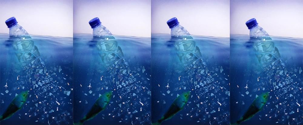 imagem de microplástico