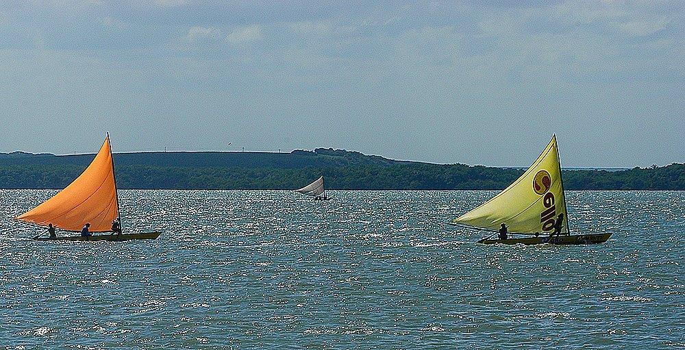 imagem de Regata de barcos típicos no rio Paraíba do Norte