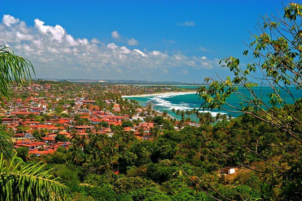 imagem de praia de Guaibu, litoral de Pernambuco