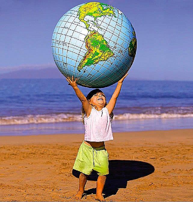 Ilustração em alusão aos direitos das futuras gerações