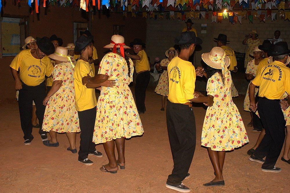 imagem de dança das Brincadeira de roda, Pirambu, Sergipe