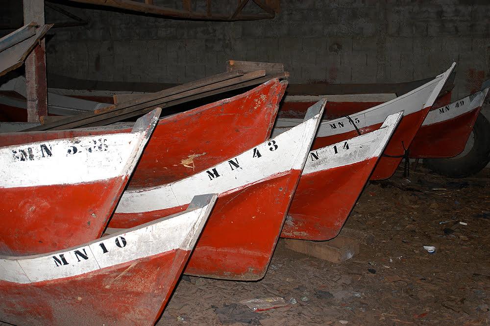 imagem de canoas de pau em salga de Iguape, Litoral centro, e sul de São Paulo