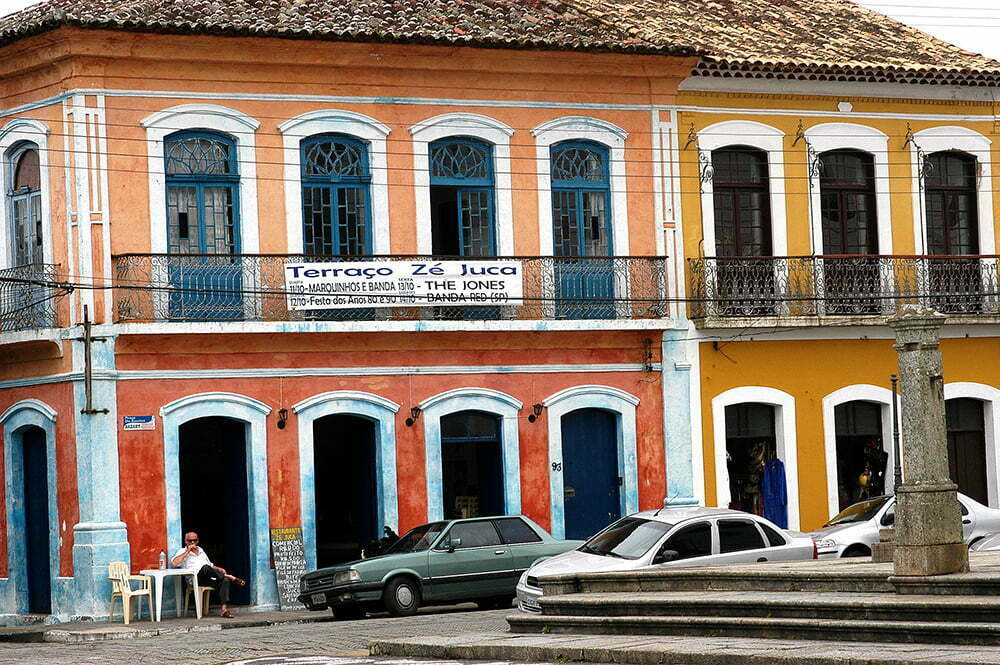 imagem de casarão colonial em Iguape, Litoral centro, e sul de São Paulo