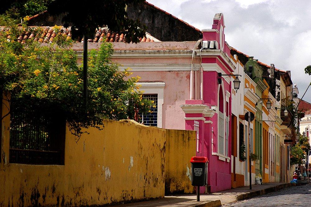imagem de casario em Olinda litoral de Pernambuco
