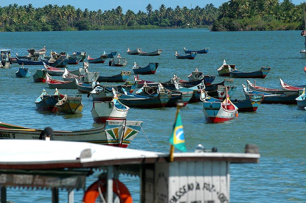 imagem de Frota de canos típicas defronte a Piaçabuçu