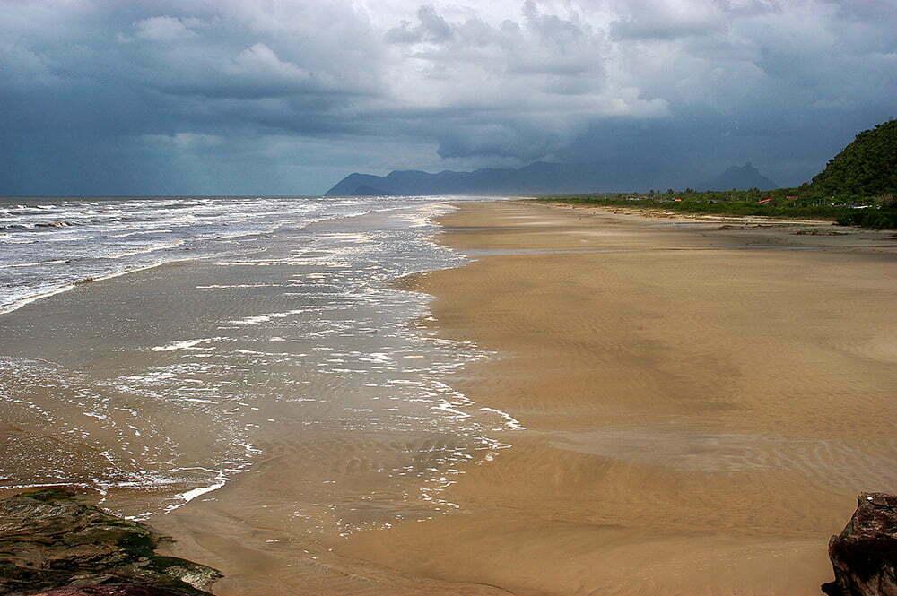 imagem da praia do UNA, Litoral centro, e sul de São Paulo