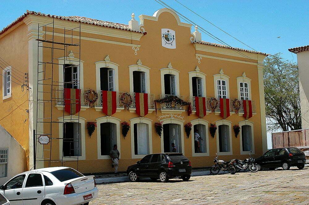 imagem de casarão da prefeitura de Penedo do diário de bordo Litorais de Alagoas e Sergipe