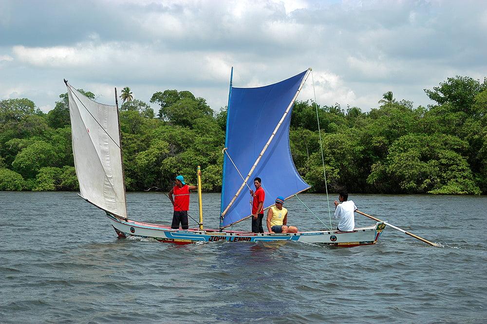 imagem de canoa borboleta, rio real