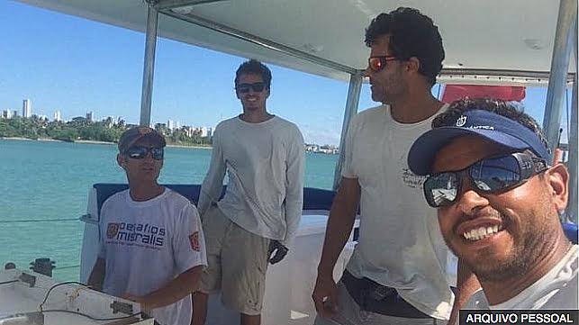 imagem de velejadores brasileiros em Cabo Verde acusados de tráfico de drogas