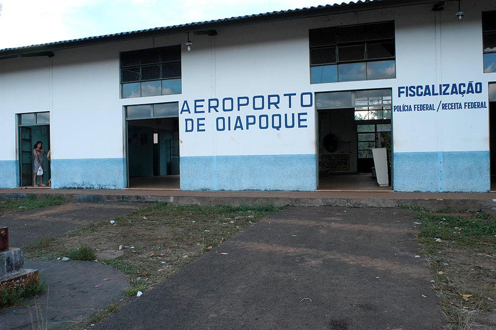 imagem do aeroporto de Oiapoque no litoral do Amapá