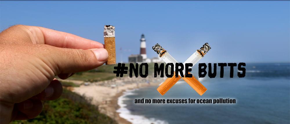 alegoria para campanha contra bitucas de cigarro no litoral