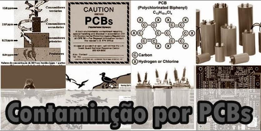 ilustração de poluição por PCBs