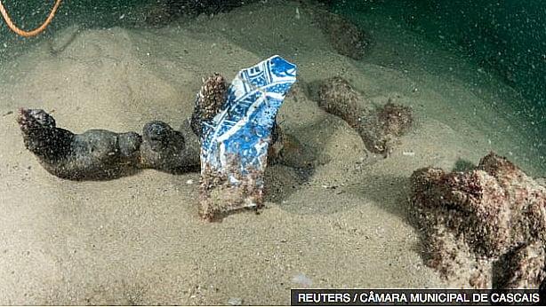 imagem de naufrágio de 400 anos