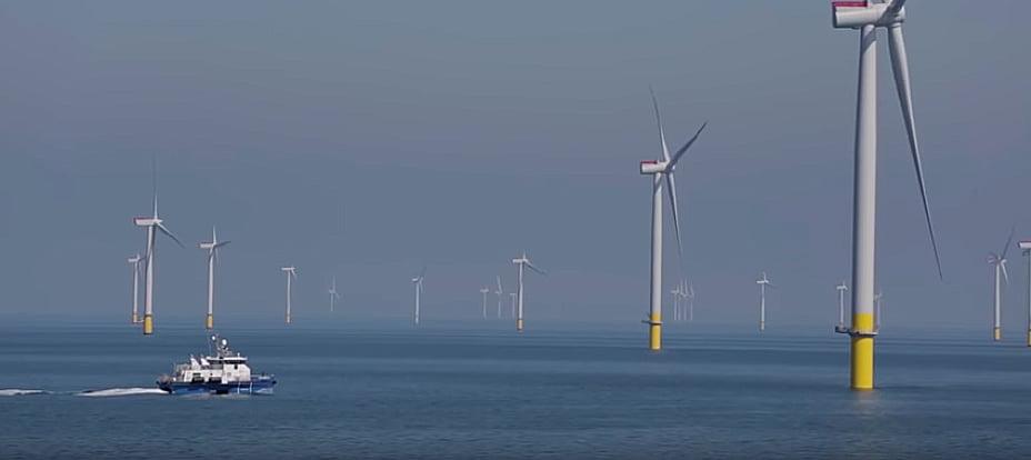 imagem do Walney Extension maior parque eólico marítimo do mundo