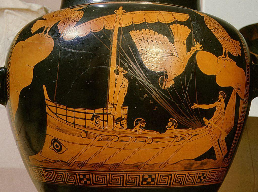imagem de vaso grego antigo