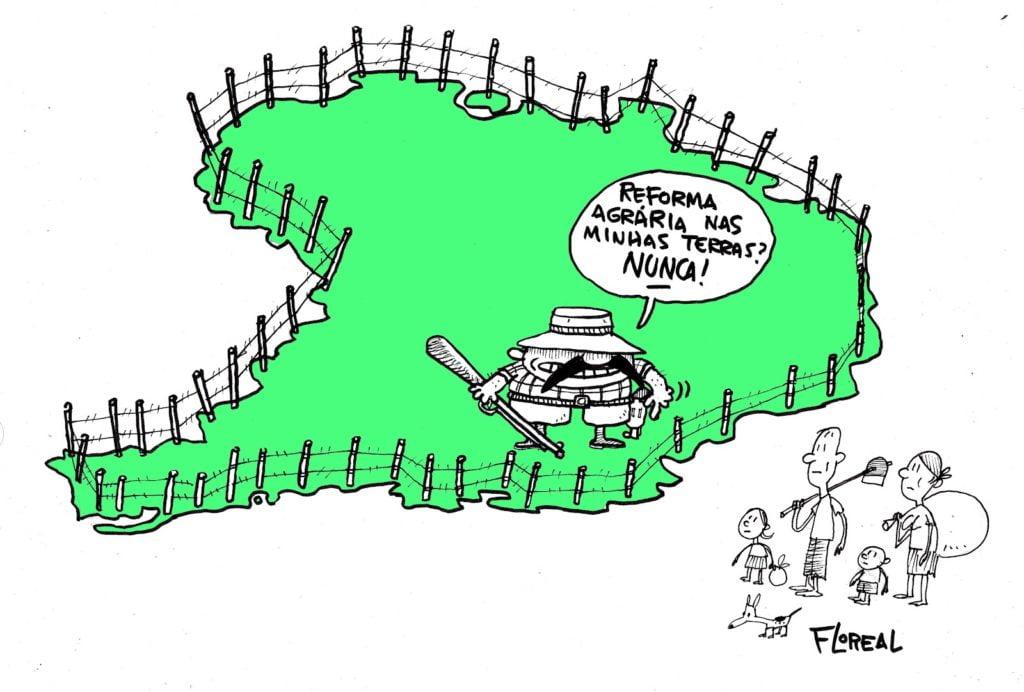 charge sobre reforma agrária