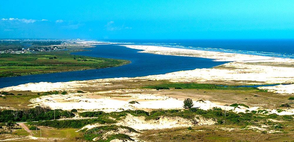 imagem do Estuário, ecossistema marinho ararangua SC