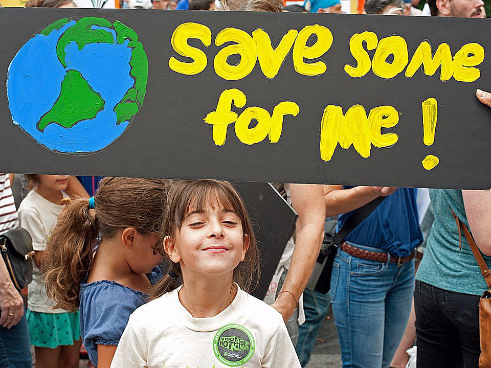 cartaz sobre o planeta e as futuras gerações