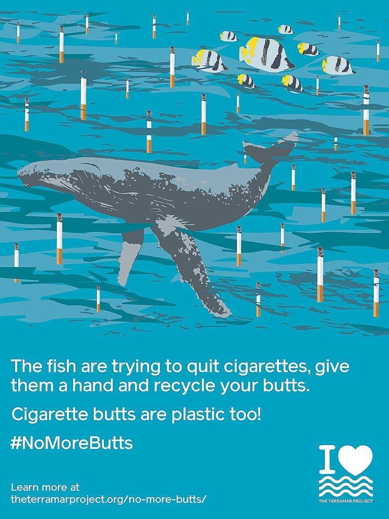 imagem de cartaz para campanha sobre poluição dos oceanos