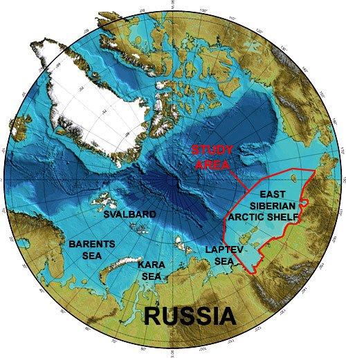 imagem de map do oceano ártico
