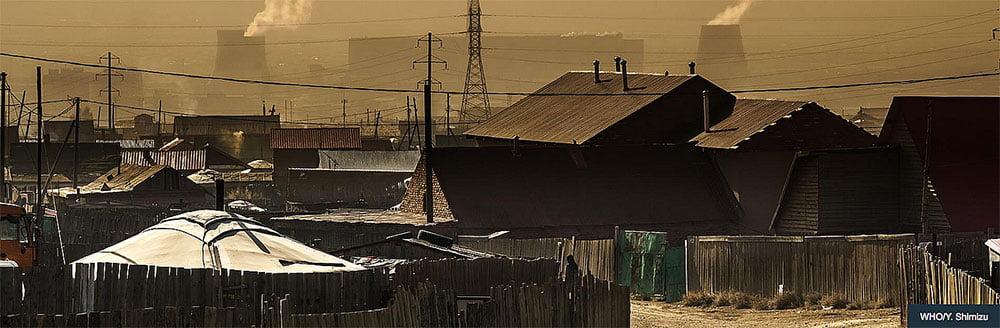 imagem de cidade poluída