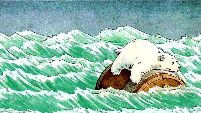 ilustração de urso polar