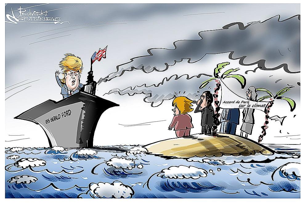 imagem de charge sobre Acordo de Paris ainda há chances?