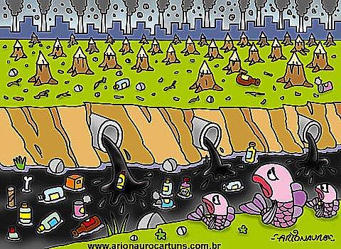 ilustração de desmatamento