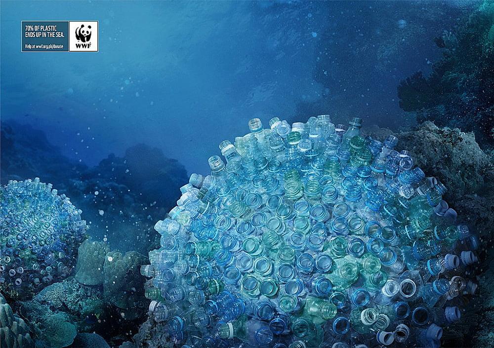 imagens de recifes de plástico