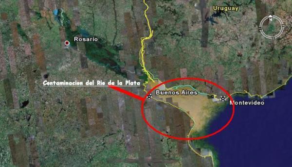 imagem de mapa do rio da Prata