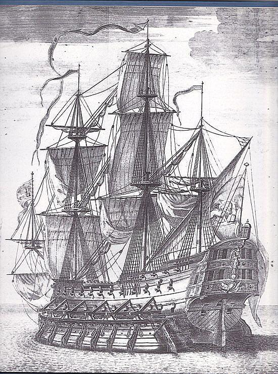 imagem de navio construído em Veneza