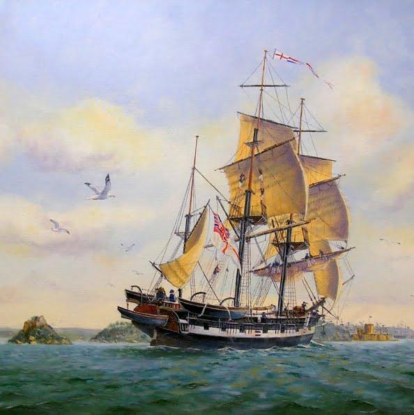 desenho do navio Beagle