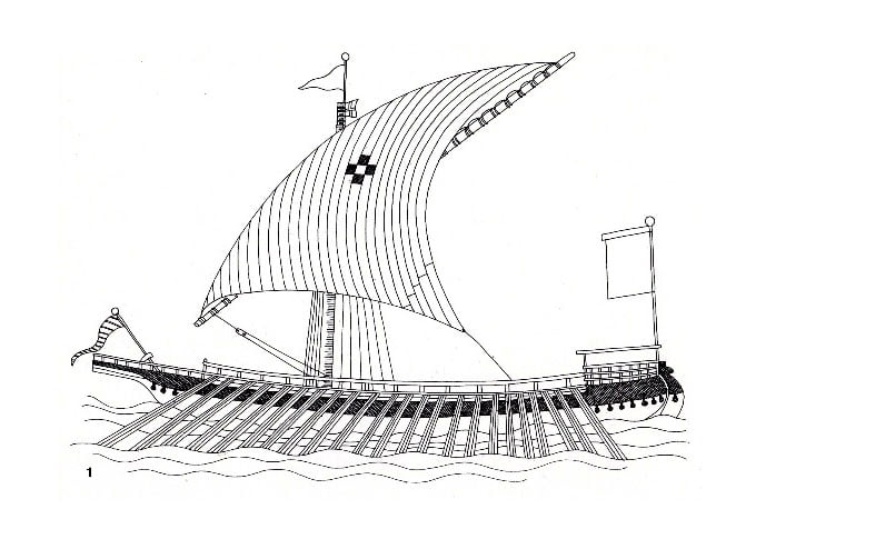 desenho de galera de Veneza