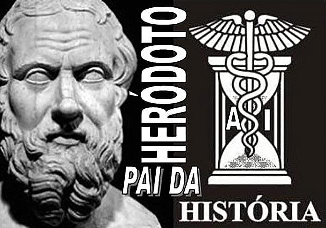 ilustração de Heródoto, pai da história