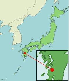 mapa de Minamata, Japão