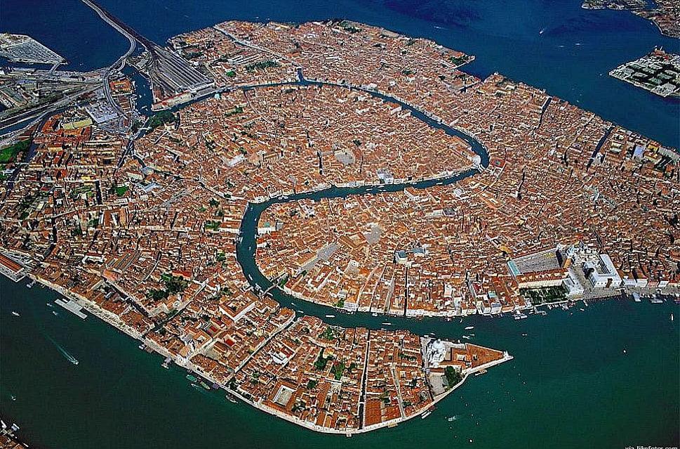 imagem aérea de Veneza