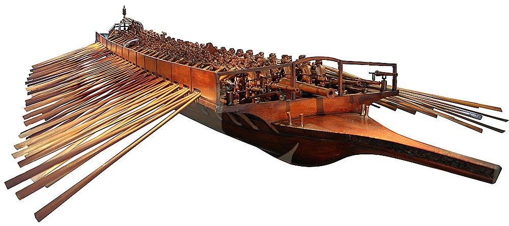 imagem de uma galé de veneza