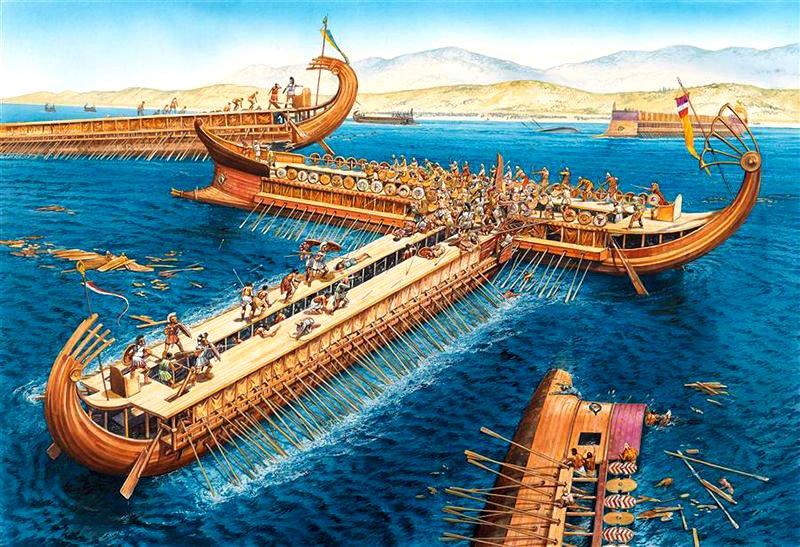 ilustração da batalha de salamina
