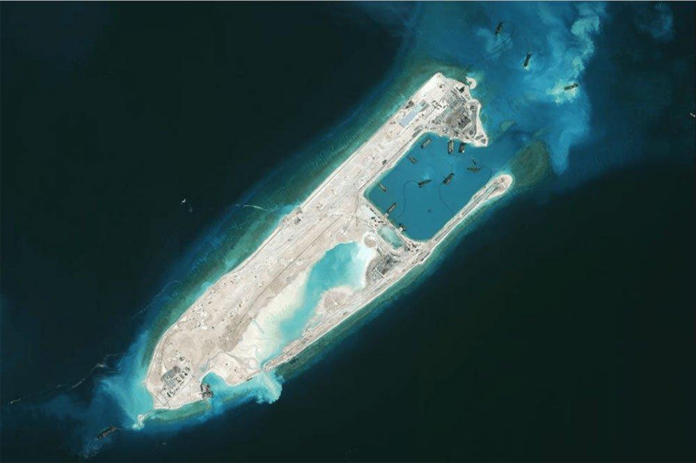 imagem da ilha artificial em 2015